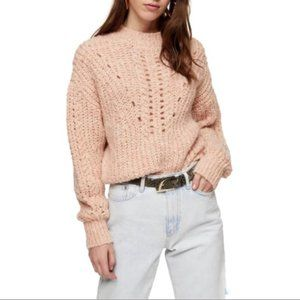 NWT TOPSHOP | Textured Pointelle Sweater